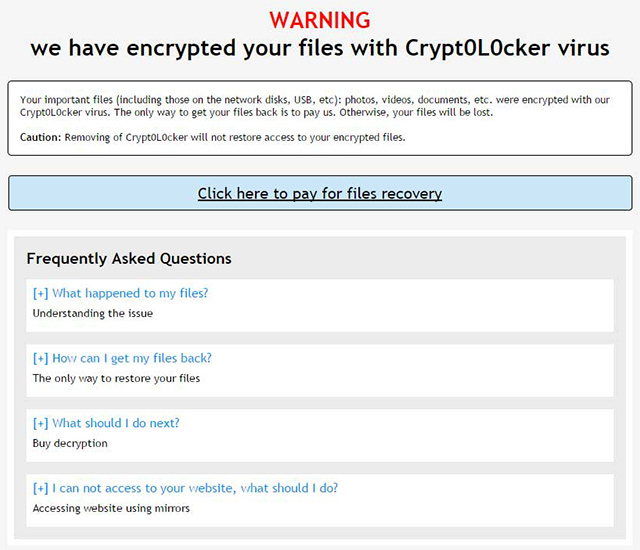 Crypt0L0cker ransom note called HOW_TO_RESTORE_FILES.html
